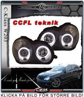 Clear frontlights projector 2pcs Angel Eyes Black CCFL
