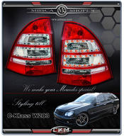 Clearglas Taillights Wagon LED SPORT 2pcs Red/Clear