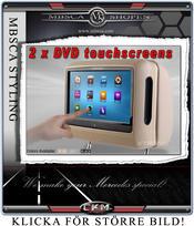 """C. Nackstöd MB Original """"LOOK"""" V2 2 pcs 9"""" Complete"""
