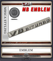 V8 BiTurbo emblem FACELIFT 1st