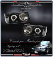 Clear frontlights 2pcs with integrated blinkers. Black!