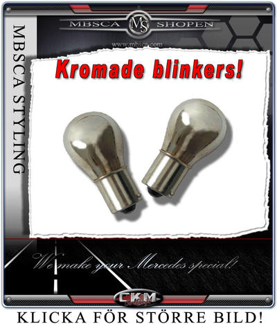 Crystal glas blinkers in chrome 2 pcs