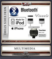 C. Bluetooth trådlös Ipod adapter. 30pin