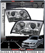 Clear frontlights projector 2pcs