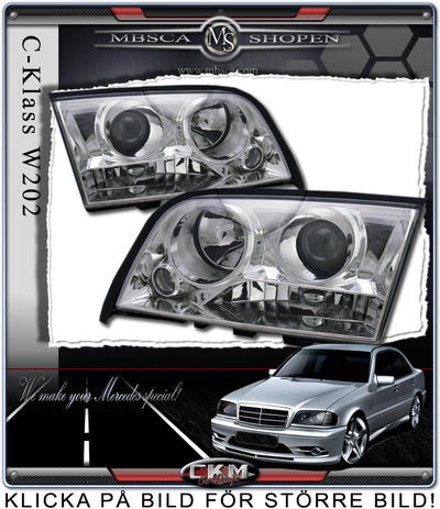 Clear frontlights projector 2pcs