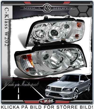 Clear frontlights 2pcs with integrated blinkers.