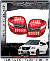 Clearglas taillights Red/Clear with LEDs 2 pcs