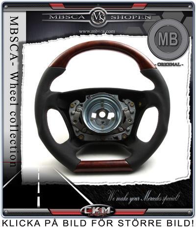 "wheel  Burl Wood/black Leather ""DTM"""