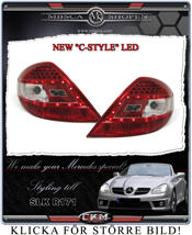"""Clear taillights LED 2 pcs """"C-style"""" set"""