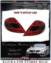 "Clear taillights LED 2 pcs ""C-style"" Red/Smoke set"