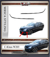 Chromelists 2pcs for frontbumper