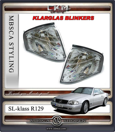 Clear turn signals front 2 pcs