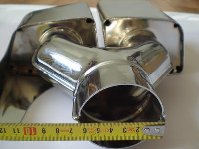 2. Chromed endpipes doubble V2 4 pipes