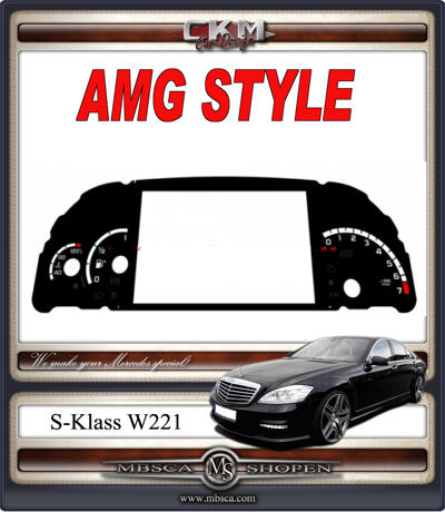 AMG STYLE cluster speedo background petrol