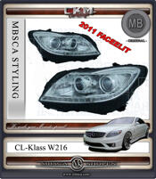 Clearglas Facelift frontlights MB Original 2 pcs