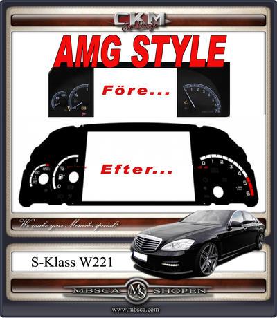 AMG STYLE cluster speedo background Diesel