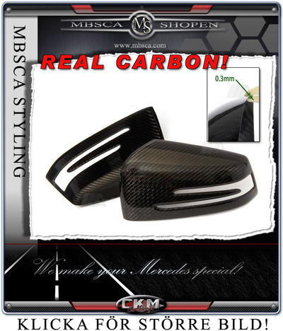 Mirror covers in real Carbon 2 pcs set Facelift