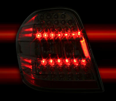 Clearglas taillights smoke with LEDs 2 pcs