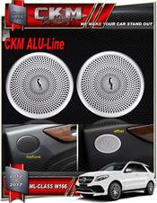 Alu-Line 2 st Alu speaker look panels bak.