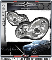 "Clear frontlights ""C55 look""  2pcs With CAN BUS Xenon kit"
