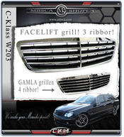 Avantgrill with frame FACELIFT 3 ribs