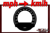 Cluster dials mph to km/h 260km/h Pre- FACELIFT