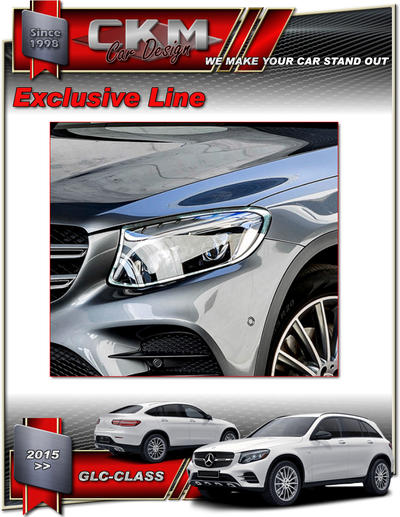 Chormed headlight frames SUV + Coupe
