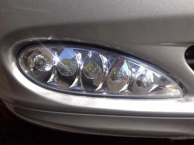 Clearglas LED Fogs 2 pcs set for bumper.03-05