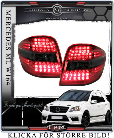 Clearglas taillights Red/Smoke with LEDs 2 pcs