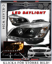 "Clearglas headlights ""Devil eyes"" DRL LED in BLACK"