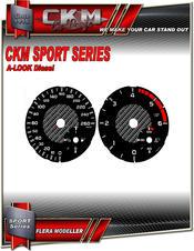 Cluster dials sport km/h 260km/h Diesel