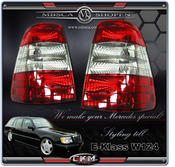 Clearglas Taillights Wagon 2pcs Red/Clear