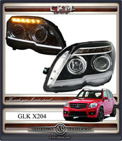 "Facelift ""look"" Clearglas headlights Svart 2pcs"