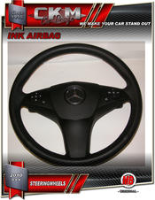 1. Steering Wheel OEM BLACK Leather WITH airbag
