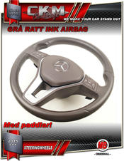 1. Steering Wheel OEM GREY Leather WITH airbag