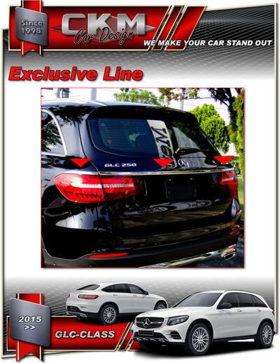 Chromed trim trunk 3pcs SUV