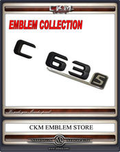 Emblem C63s trunk BLACK