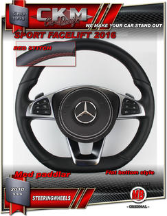 1. Steering Wheel sport FACELIFT 2016 OEM RED STITCH Leather