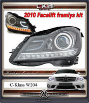"Clearglas headlights  ""Light bar"" DRL LED V2 BLACK"