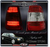 Clearglas Taillights Wagon 2pcs Red/Clear LED