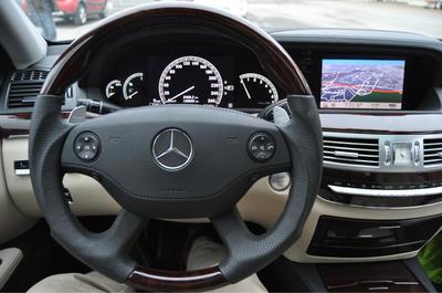 Wood steering wheel Burl/Black leather