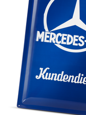Mercedes metal sign