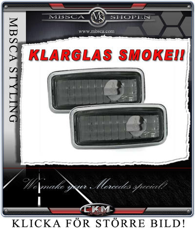Crystal side markers smoke 2 pcs