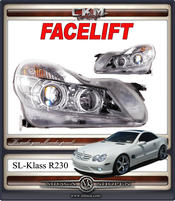 Klarglas FACELIFT headlight Xenon Chrome 1pcs