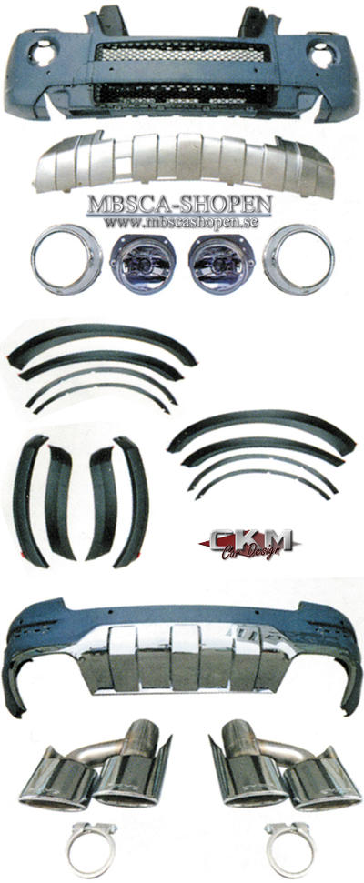 "1. CKM ""A-look"" facelift Spoiler kit 24 delar 05-12"