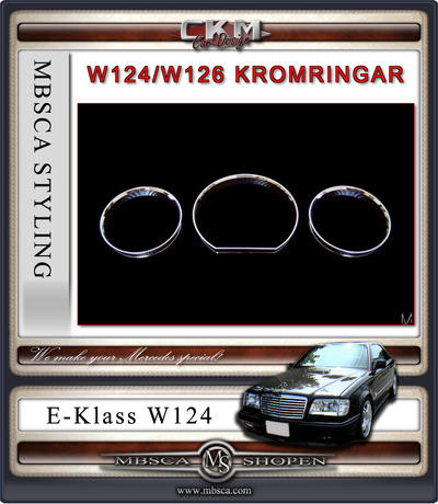 Chrome rings cluster 3pcs