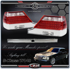 Clearglas taillights Red/Clear with LEDs 395-98  pcs