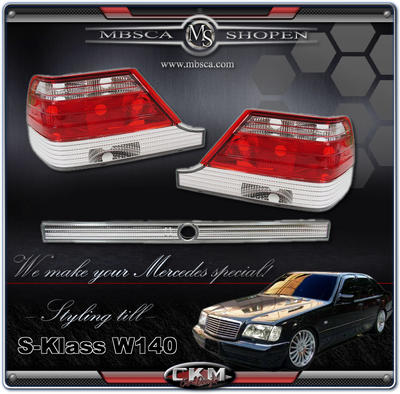 Clearglas taillights Red/Clear  95-98 3 pcs