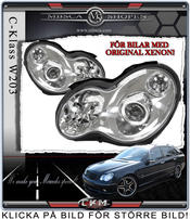 "Clear frontlights ""C55 look""   2pcs For Original Xenon Cars"