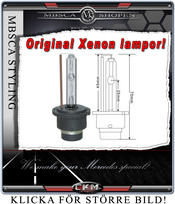 Xenon replacement bulbs for car with original xenons.